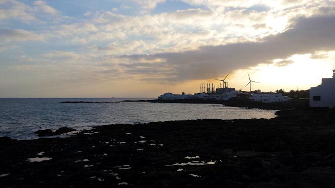 zachód słońca na Lanzarote