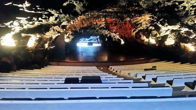 Sala koncertowa - Jameos del Aqua na Lanzarote